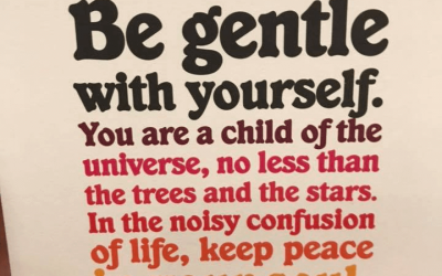 Words to live by…